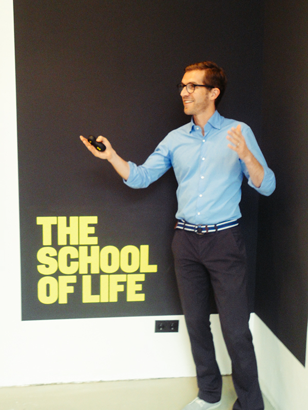 School of life trainer Philipp Karch is himself living proof of switching careers and finding satisfaction. / Photo: Ryan Scott